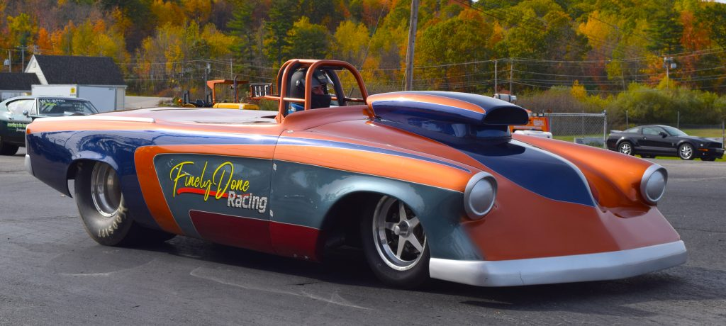 Tom Paquette's Finely Done Studebaker Super Gas Roadster at New England Dragway in 2020 - Fran's Auto Body - Full Service Auto Repair in Hancock, NH - 603 525-4461