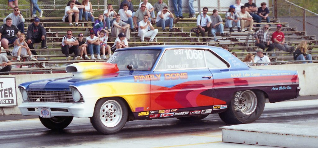 Tom Paquette's Finely Done Nova at New England Dragway in 1998 - Fran's Auto Body - Full Service Auto Repair in Hancock, NH - 603 525-4461